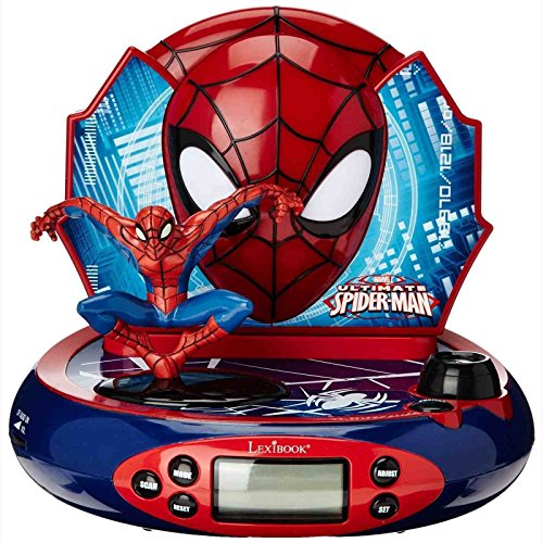 Spider-Man Kinderwecker / Radiowecker mit Projektion